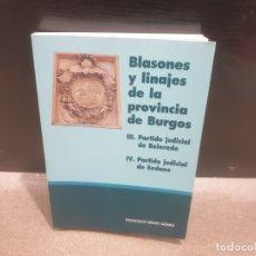 Libri di seconda mano: BLASONES Y LINAJES DE LA PROVINCIA DE BURGOS...2001...... Lote 182508065