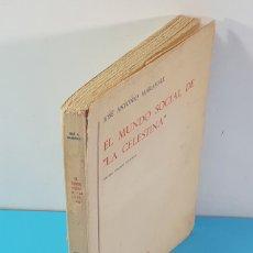 Libri di seconda mano: EL MUNDO SOCIAL DE LA CELESTINA, JOSE ANTONIO MARAVALL, EDITORIAL GREDOS 1976 3ª EDIC. 186 PAG. Lote 182587090