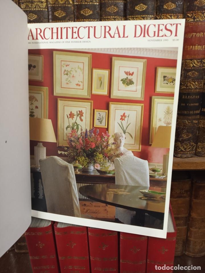 Libros de segunda mano: Colección de revistas encuadernadas. Architectural digest. Años 80-90. 6 tomos. 24 revistas. - Foto 3 - 182608573