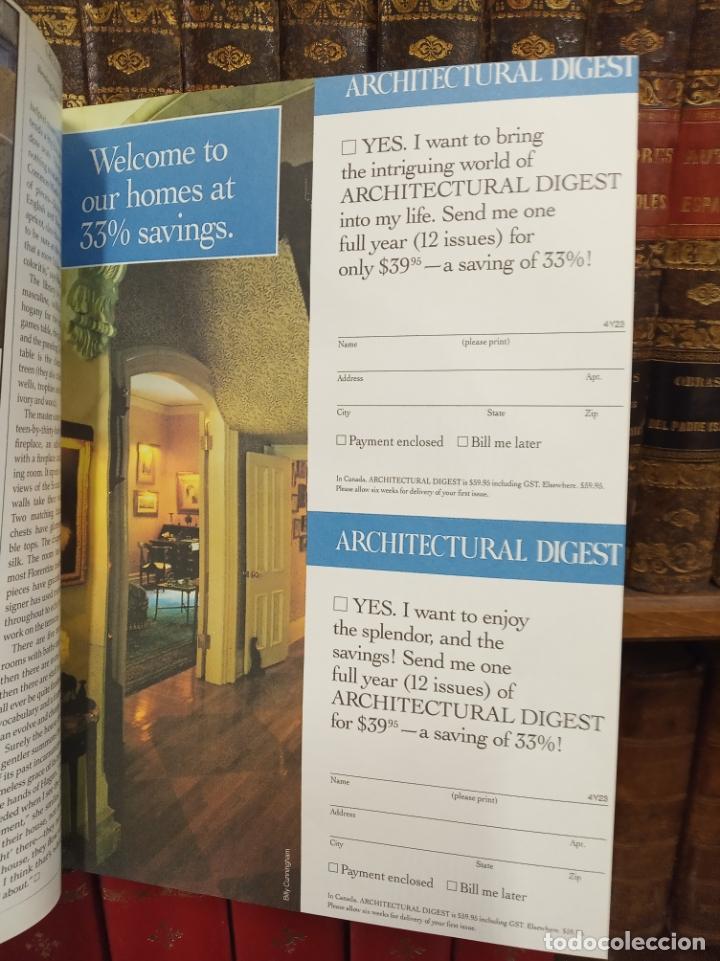 Libros de segunda mano: Colección de revistas encuadernadas. Architectural digest. Años 80-90. 6 tomos. 24 revistas. - Foto 6 - 182608573