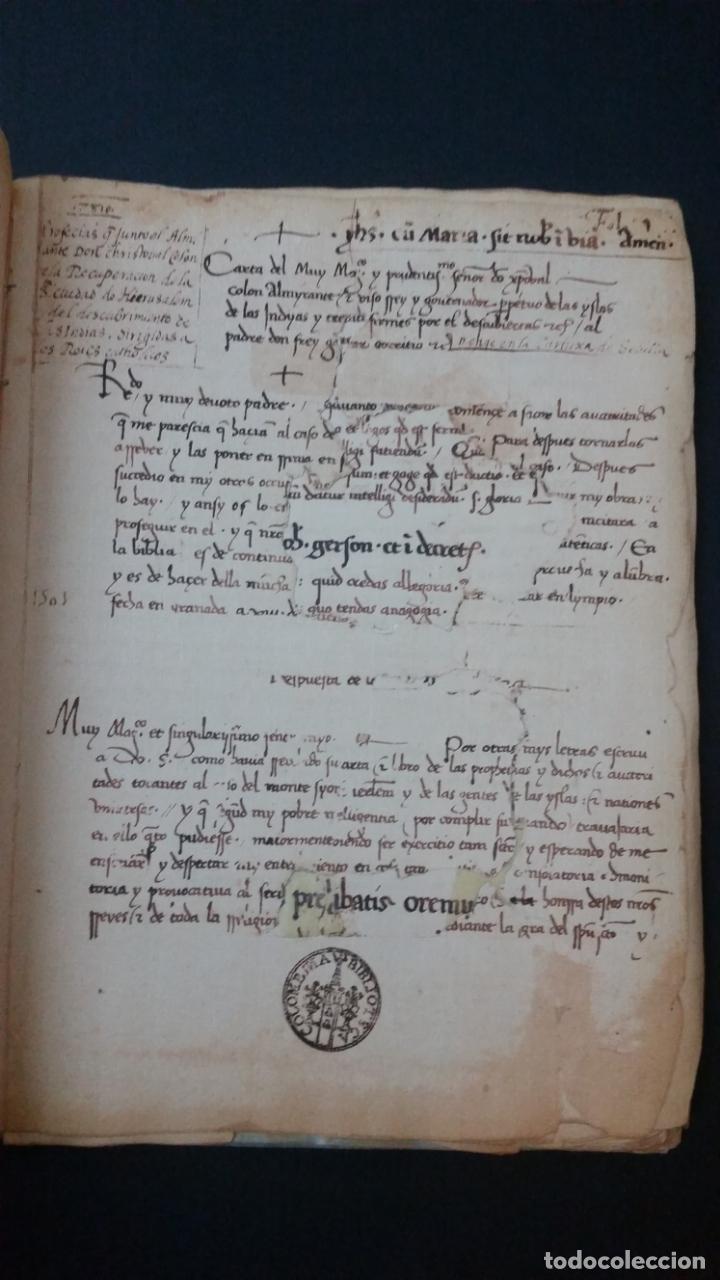 Libros de segunda mano: 1984 - COLÓN - LIBRO DE LAS PROFECÍAS - Facsímil del manuscrito de la Biblioteca Capitular Colombina - Foto 4 - 182628481