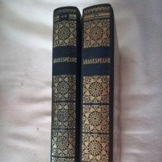 Libros de segunda mano: BIBLIOTECA DE LOS GRANDES CLASICOS. WILLIAM SHAKESPEARE. 2 VOLUMENES. 1967. BARCELONA. VER OBRAS. Lote 182631831