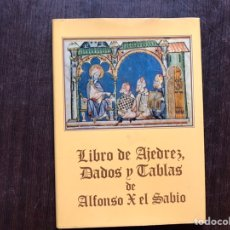Libros de segunda mano: LIBRO DE AJEDREZ. DADOS Y TABLAS DE ALFONSO X EL SABIO. PILAR GARCÍA. MUY DIFÍCIL. Lote 182653665