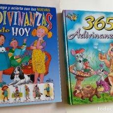 Libros de segunda mano: ADIVINANZAS INFANTILES - 2 LIBROS. Lote 182682278