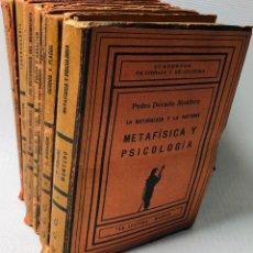 Libros de segunda mano: LOTE DE 8 CUADERNOS DE CIENCIAS Y DE CULTURA ···LA LECTURA MADRID ·· EDIT. G. MARAÑON · LUIS FORTU. Lote 182700928