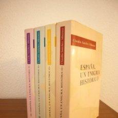 Libros de segunda mano: CLAUDIO SÁNCHEZ ALBORNOZ: ESPAÑA, UN ENIGMA HISTÓRICO. COMPLETO EN 4 VOLS. (EDHASA, 1991). Lote 182711221