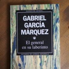 Libros de segunda mano: GABRIEL GARCÍA MÁRQUEZ - EL GENERAL EN SU LABERINTO - RBA AUTORES DE LENGUA ESPAÑOLA 1. Lote 182726246