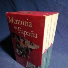 Libros de segunda mano: MEMORIA DE ESPAÑA. FERNANDO GARCÍA DE CORTAZAR. DOS TOMOS EN ESTUCHE.. Lote 182732901