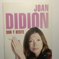 Libros de segunda mano: SUR Y OESTE, DE JOAN DIDION. Lote 182781182