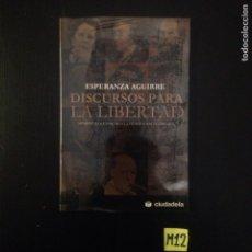 Libros de segunda mano: DISCURSO PARA LA LIBERTAD. Lote 182791121