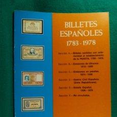 Libros de segunda mano: CATALOGO BILLETES ESPAÑOLES 1783/1978-JOSE A. VICENTI-ESPECIALIZADO-XIII EDICION 1978/1979. . Lote 182877201