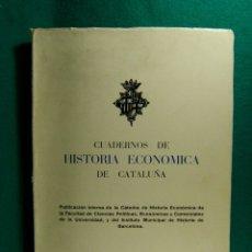 Libros de segunda mano: CUADERNOS DE HISTORIA ECONOMICA DE CATALUÑA-COMPLETO-CIENCIAS POLITICAS BARCELONA-1970-1ª EDICION. Lote 182949923