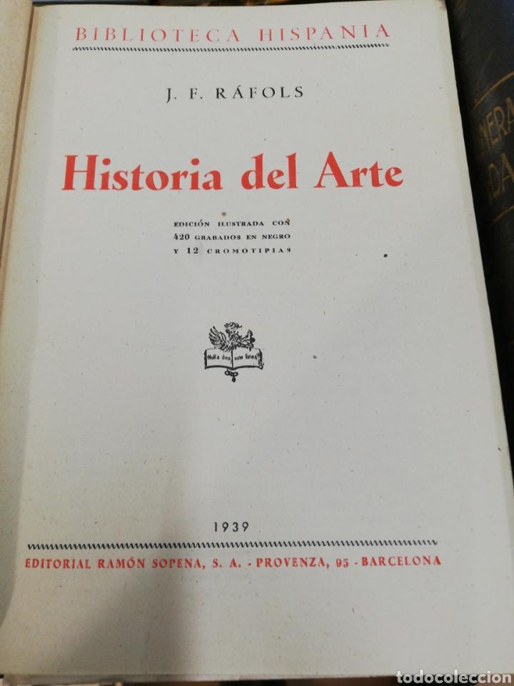 Libros de segunda mano: Historia del arte, J. F. Rafols, con 420 grabados, año 1939 - Foto 2 - 182991498