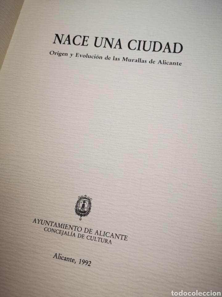 Libros de segunda mano: Nace una ciudad: origen y evolución de las murallas de Alicante - Foto 2 - 183041385