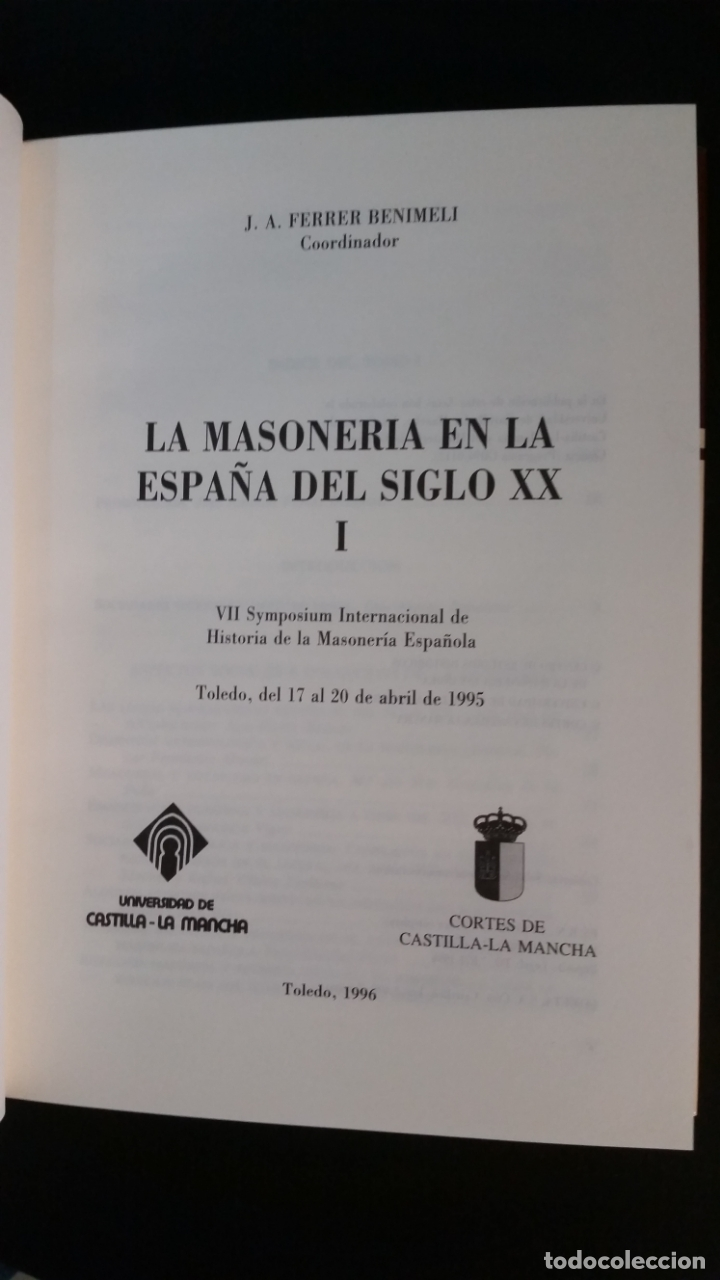 Libros de segunda mano: 1996 - FERRER BENIMELI - La masonería en la España del siglo XX. 2 tomos - Foto 2 - 183091181