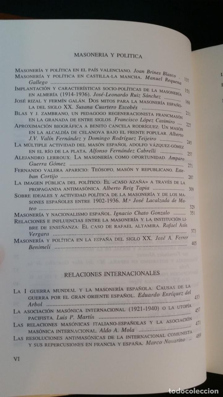 Libros de segunda mano: 1996 - FERRER BENIMELI - La masonería en la España del siglo XX. 2 tomos - Foto 5 - 183091181