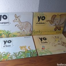 Libros de segunda mano: LOTE CUATRO CUENTOS YO BRUGUERA (1980) - EL CANGURO, EL LEÓN, LA JIRAFA Y EL ELEFANTE. Lote 183193868