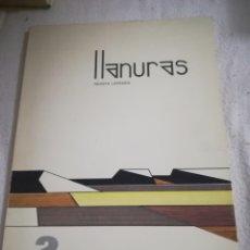 Libros de segunda mano: REVISTA LITERARIA LLANURAS. Nº 2. OTOÑO 1982. VALLADOLID. 110 PAGINAS. 22 X 30CM. VER. Lote 183204790
