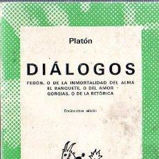 Livros em segunda mão: DIALOGOS. PLATON. ESPASA- CALPE. 1975.. Lote 183254388