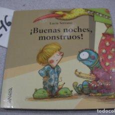 Libros de segunda mano: BUENAS NOCHES, MONSTRUOS. Lote 183260383