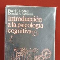 Libros de segunda mano: INTRODUCCIÓN A LA PSICOLOGÍA COGNITIVA. PETER H. LINDSAY, DONALD A. NORMAN. EDITORIAL TECNOS 1986. Lote 183365813