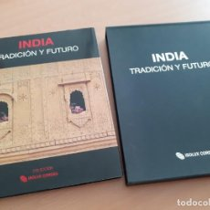 Libros de segunda mano: INDIA - TRADICION Y FUTURO-OLIVIER FOLLMI-29 X 38 CENTIMETROS - NUEVO EN ESTUCHE. Lote 183371408
