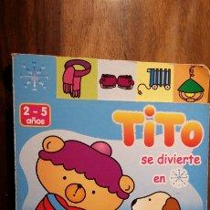 Libros de segunda mano: TITO SE DIVIERTE EN INVIERNO (2 - 5 AÑOS) SALDAÑA. Lote 183423590