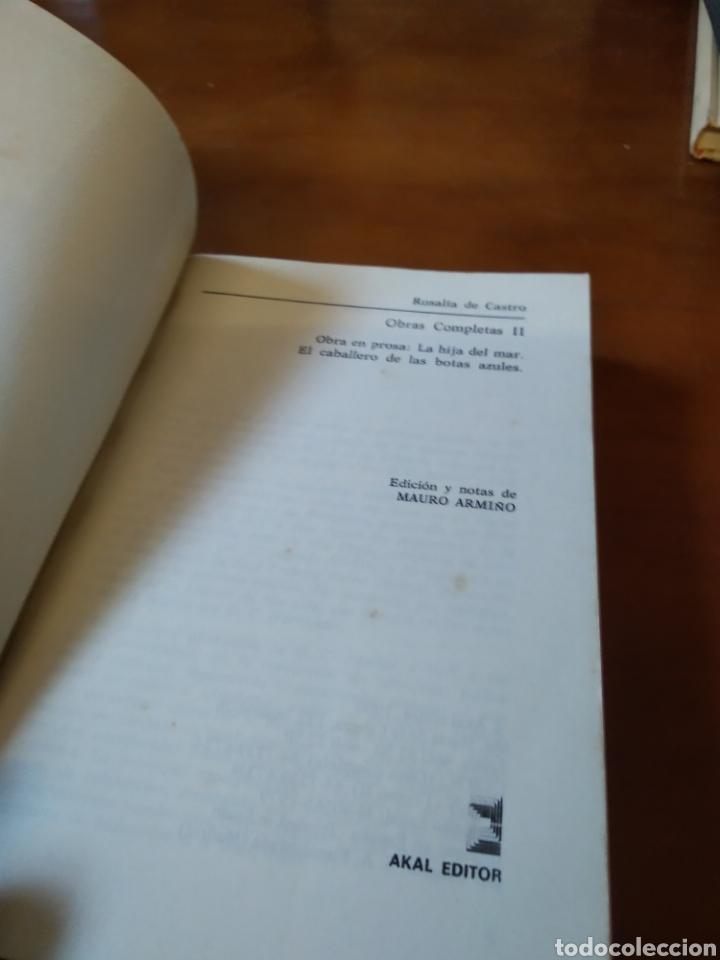 Libros de segunda mano: ROSALIA DE CASTRO. OBRA COMPLETA 2 - Foto 2 - 183473790