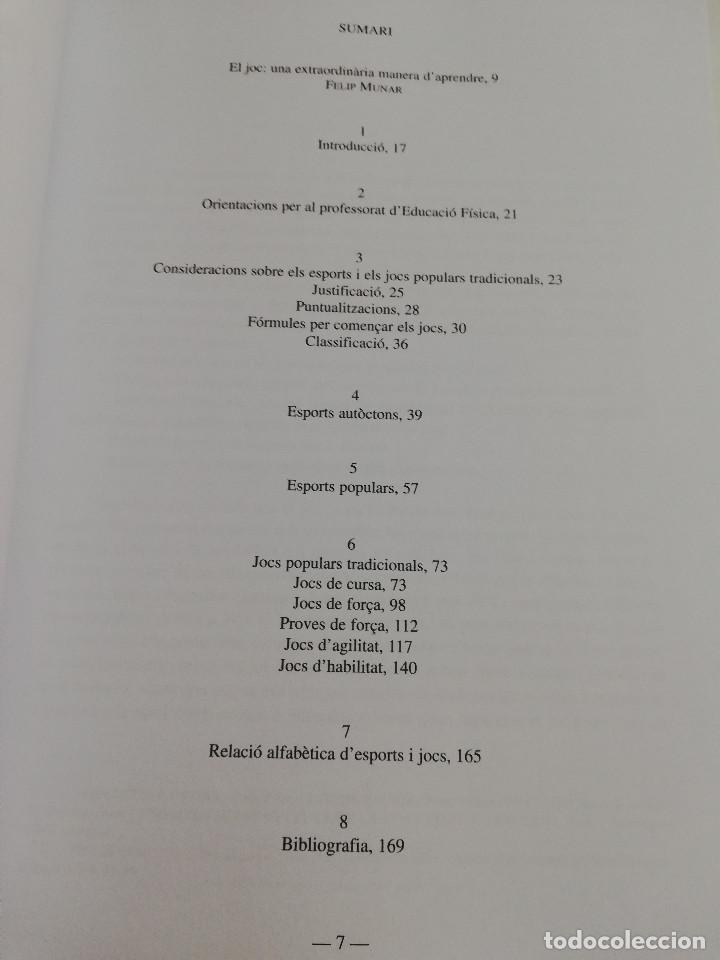 Libros de segunda mano: ELS ESPORTS I JOCS POPULARS TRADICIONALS DE LES ILLES BALEARS (FRANCESC AMENGUAL RIGO) - Foto 3 - 183558151