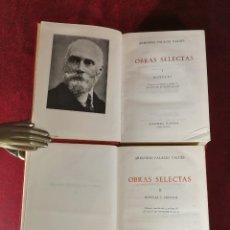 Libros de segunda mano: ARMANDO PALACIO VALDÉS OBRAS SELECTAS TOMOS 1 Y 2 COMPLETA EDITORIAL PLANETA. Lote 183642816