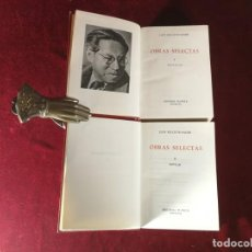 Libros de segunda mano: LION FEUCHTWANGER OBRAS SELECTAS TOMOS 1 Y 2 COMPLETA EDITORIAL PLANETA. Lote 183642860