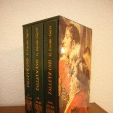 Libros de segunda mano: GEORGES LACOUR-GAYET: TALLEYRAND. 3 VOLS. EN ESTUCHE (PAYOT, 1979) EXCELENTE ESTADO. EN FRANÇAIS.. Lote 183665622