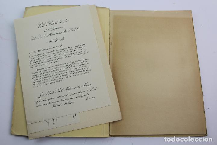 Libros de segunda mano: L-2047. PROYECTO DE OBRAS EN LA IGLESIA DE STA. MARIA DE POBLET PARA EL TRASLADO. 1944 - Foto 2 - 183698246