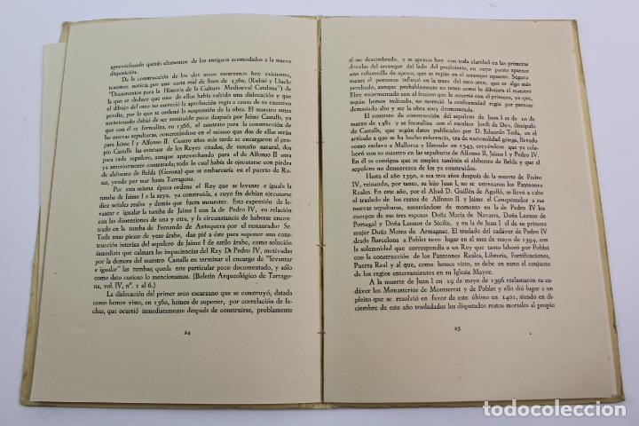 Libros de segunda mano: L-2047. PROYECTO DE OBRAS EN LA IGLESIA DE STA. MARIA DE POBLET PARA EL TRASLADO. 1944 - Foto 4 - 183698246