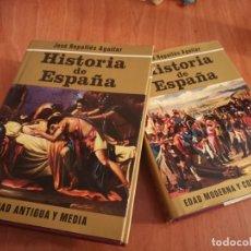 Libros de segunda mano: TOMOS I Y II HISTORIA DE ESPAÑA EDAD ANTIGUA Y MEDIA EDAD MODERNA CONTEMPORÁNEA JOSE REPOLLES 1973. Lote 183734827