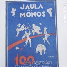 Libri di seconda mano: JAULA DE MONOS: 100 DIBUJOS HUMORÍSTICOS DE VALENTIN CASTANYS. Lote 183755708