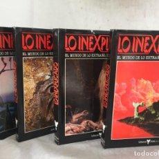 Libros de segunda mano: LO INEXPLICADO. 4 VOLUMENES. DEL 1 AL 4. EDITORIAL DELTA. 1982. Lote 183772556