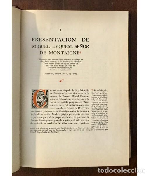 Libros de segunda mano: MIGUEL DE MONTAIGNE - Foto 4 - 183824112