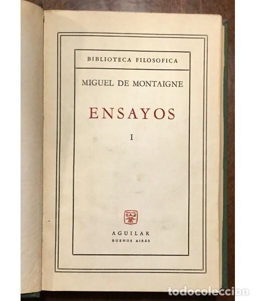 Libros de segunda mano: ENSAYOS (DOS TOMOS) - Foto 2 - 183825251