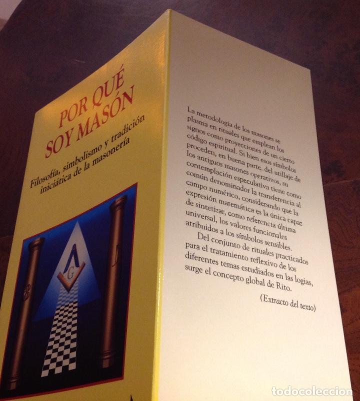 Libros de segunda mano: Por qué soy masón. Filosofía,simbolismo y tradición iniciatica de la masonería. Amando Hurtado. Edaf - Foto 2 - 183848395