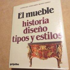 Libros de segunda mano: EL MUEBLE. HISTORIA,DISEÑO,TIPOS Y ESTILOS. ED.GRIJALBO.1985.. Lote 183854057