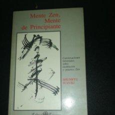 Libros de segunda mano: MENTE ZEN, MENTE DE PRINCIPIANTE, SHUNRYU SUZUKI. Lote 183868658