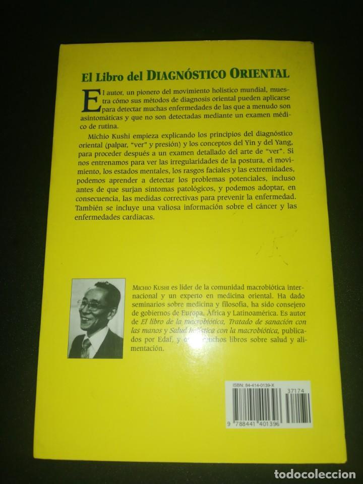 Libros de segunda mano: El libro diagnóstico oriental Michio Kushi - Foto 2 - 183868685