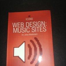 Libros de segunda mano: ED. JULIUS WIEDEMANN, WEB DESIGN MUSIC SITES. Lote 183869790