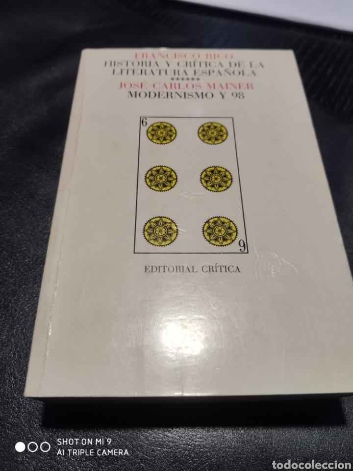 FRANCISCO RICO. JOSÉ CARLOS MAINER. MODERNISMO Y 98 (Libros de Segunda Mano (posteriores a 1936) - Literatura - Otros)