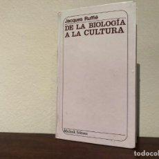 Libros de segunda mano: DE LA BIOLOGÍA A LA CULURA. JACQUES RUFFIÉ. MUCHNICK EDITORES. RACISMO. ADPTACIÓN DARWINISMO. NUEVO. Lote 183943181