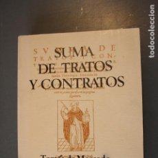 Libros de segunda mano: SUMA DE TRATOS Y CONTRATOS. TOMÁS DE MERCADO. ED. EDITORA NACIONAL. MADRID 1975 - TOMÁS DE MERCADO. Lote 184007890