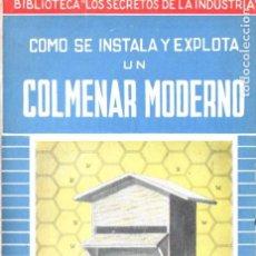 Libros de segunda mano: WELLINGTON : CÓMO SE INSTALA Y EXPLOTA UN COLMENAR MODERNO (1950). Lote 184025137