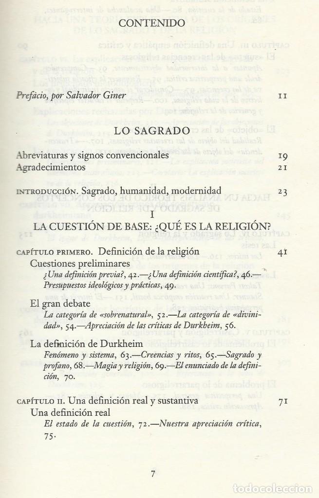 Libros de segunda mano: LO SAGRADO. DEL MUNDO ARCAICO A LA MODERNIDAD, José A. Prades - Foto 3 - 184064057