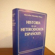Libros de segunda mano: MARCELINO MENÉNDEZ PELAYO: HISTORIA DE LOS HETERODOXOS ESPAÑOLES, I (BAC, 1986) PERFECTO. Lote 184201046